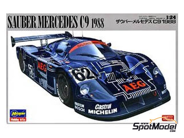 Image 1: Sauber Mercedes C9 - 24 Hours Le Mans 1988 | Model car kit in 1/24 scale manufactured by Hasegawa (ref. 20273)