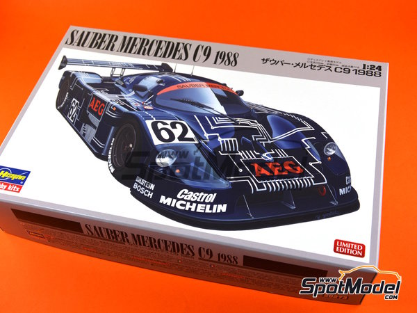 Image 10: Sauber Mercedes C9 - 24 Hours Le Mans 1988 | Model car kit in 1/24 scale manufactured by Hasegawa (ref. 20273)