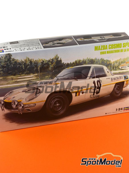 Mazda Cosmo Sport - Marathon de la Route 1968 | Model car kit in 1/24 scale manufactured by Hasegawa (ref. 20274) image