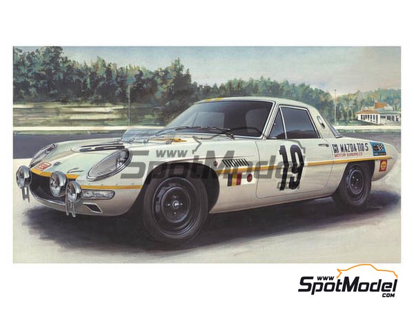 Image 1: Mazda Cosmo Sport - Marathon de la Route 1968 | Model car kit in 1/24 scale manufactured by Hasegawa (ref. 20274)