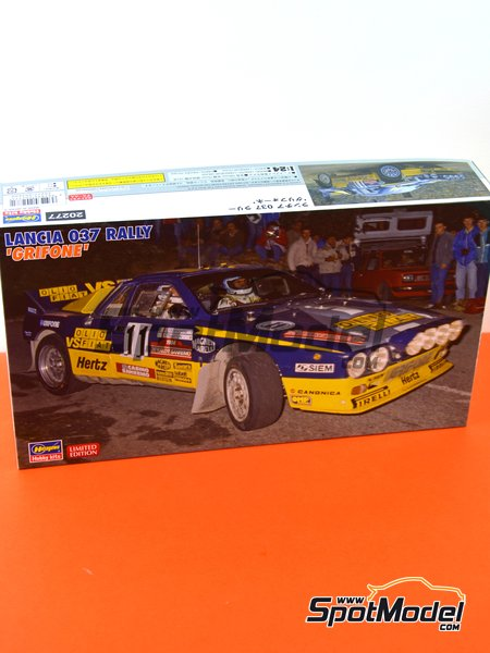 Lancia 037 Rally Grifone SRL Olio Fiat - Sanremo Rally 1984 | Model car kit in 1/24 scale manufactured by Hasegawa (ref. 20277) image