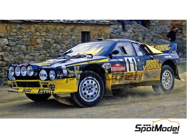 Image 1: Lancia 037 Rally - Sanremo Rally 1984 | Model car kit in 1/24 scale manufactured by Hasegawa (ref. 20277)