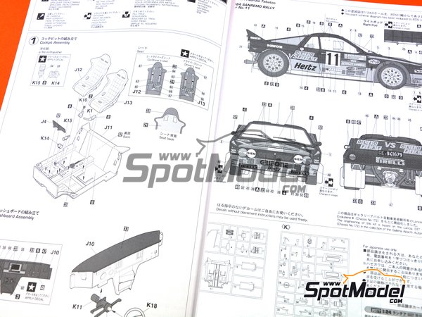 Image 8: Lancia 037 Rally - Sanremo Rally 1984 | Model car kit in 1/24 scale manufactured by Hasegawa (ref. 20277)