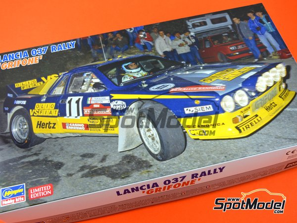 Image 9: Lancia 037 Rally - Sanremo Rally 1984 | Model car kit in 1/24 scale manufactured by Hasegawa (ref. 20277)