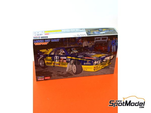 Image 10: Lancia 037 Rally - Sanremo Rally 1984 | Model car kit in 1/24 scale manufactured by Hasegawa (ref. 20277)