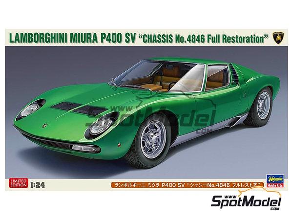 Image 1: Lamborghini Miura P400 SV | Maqueta de coche en escala1/24 fabricado por Hasegawa (ref.20278)
