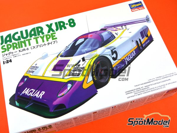 Image 1: Jaguar XJR-8 Sprint Type Silk Cut - FIA World Sports-Prototype Championship - WSPC 1987 | Model car kit in 1/24 scale manufactured by Hasegawa (ref. 20281)