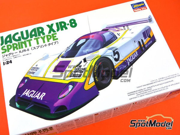 Image 9: Jaguar XJR-8 Sprint Type Silk Cut - FIA World Sports-Prototype Championship - WSPC 1987 | Model car kit in 1/24 scale manufactured by Hasegawa (ref. 20281)