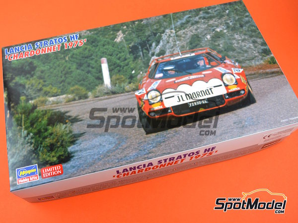 Image 9: Lancia Stratos HF - Tour de Corse 1975 | Model car kit in 1/24 scale manufactured by Hasegawa (ref. 20282)