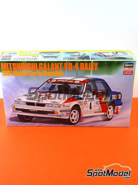 Mitsubishi Galant VR-4 Ralli Art - Rally de Montecarlo, Gran Premio de Suecia 1991 | Maqueta de coche en escala1/24 fabricado por Hasegawa (ref.20288) image