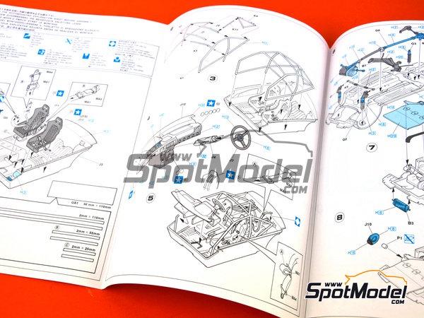 Image 5: Mitsubishi Galant VR-4 Ralli Art - Rally de Montecarlo, Gran Premio de Suecia 1991 | Maqueta de coche en escala1/24 fabricado por Hasegawa (ref.20288)