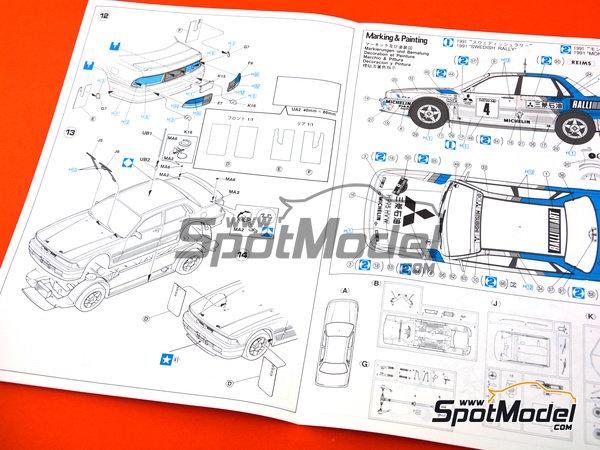 Image 6: Mitsubishi Galant VR-4 Ralli Art - Rally de Montecarlo, Gran Premio de Suecia 1991 | Maqueta de coche en escala1/24 fabricado por Hasegawa (ref.20288)