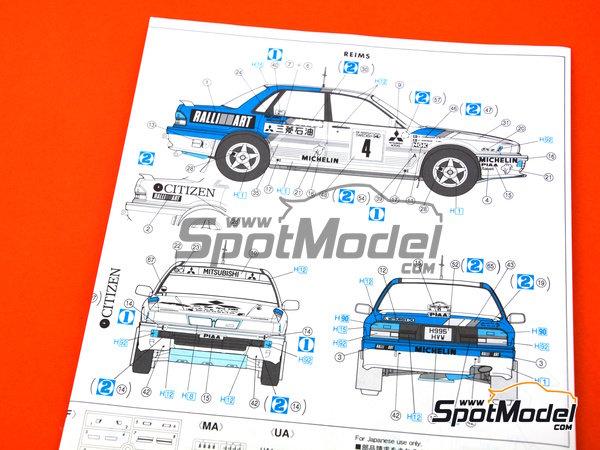 Image 7: Mitsubishi Galant VR-4 Ralli Art - Rally de Montecarlo, Gran Premio de Suecia 1991 | Maqueta de coche en escala1/24 fabricado por Hasegawa (ref.20288)