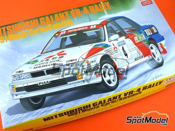 Image 9: Mitsubishi Galant VR-4 Ralli Art - Rally de Montecarlo, Gran Premio de Suecia 1991 | Maqueta de coche en escala1/24 fabricado por Hasegawa (ref.20288)