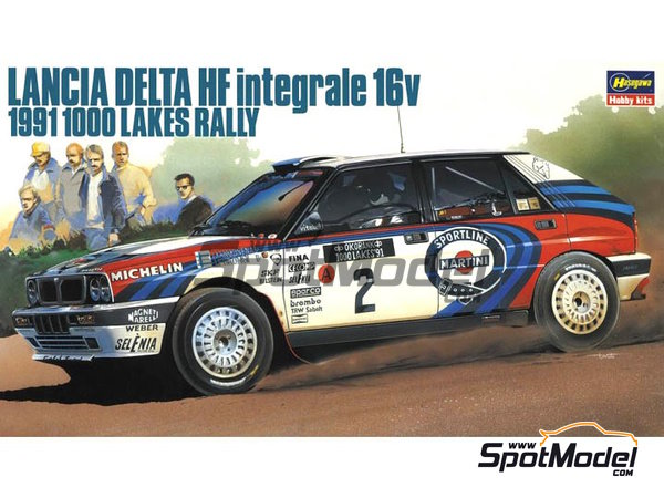 Image 1: Lancia Delta HF Integrale 16v - 1000 Lakes Finland Rally 1991 | Model car kit in 1/24 scale manufactured by Hasegawa (ref. 20289)
