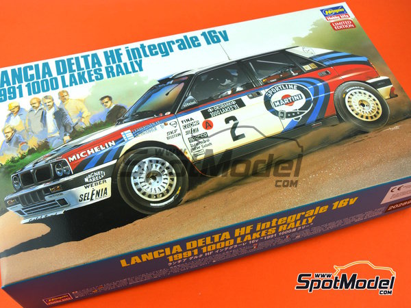 Image 12: Lancia Delta HF Integrale 16v - 1000 Lakes Finland Rally 1991 | Model car kit in 1/24 scale manufactured by Hasegawa (ref. 20289)