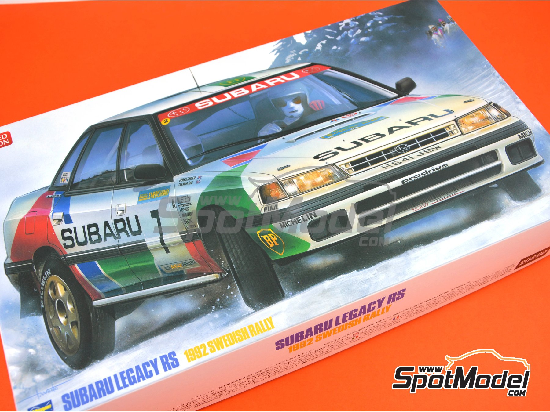 Image 19: Subaru Legacy RS - Svezia Sweden Rally 1992 | Model car kit in 1/24 scale manufactured by Hasegawa (ref. 20290)
