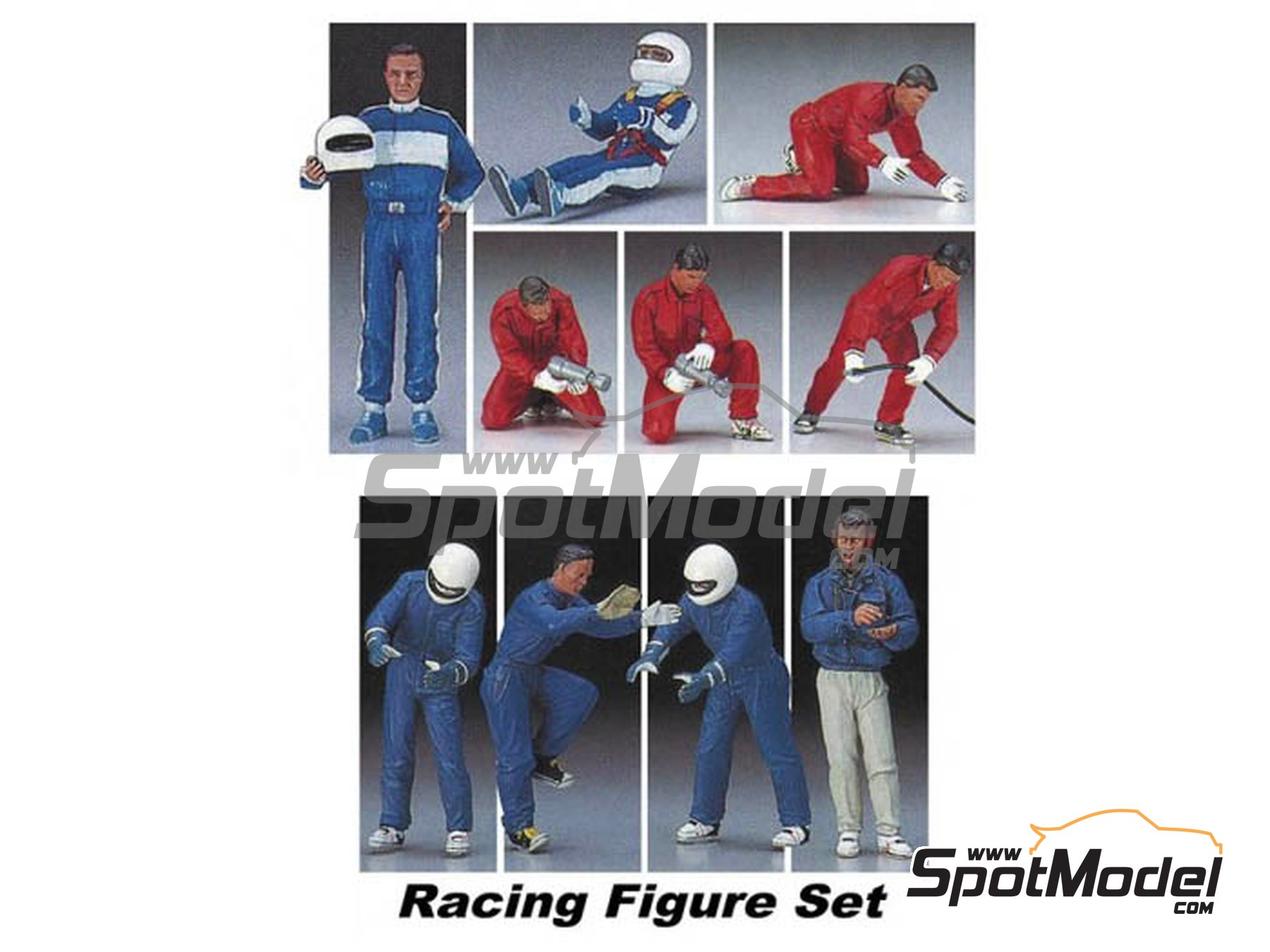 Image 1: Racing figure set | Figures set in 1/24 scale manufactured by Hasegawa (ref. 20295)