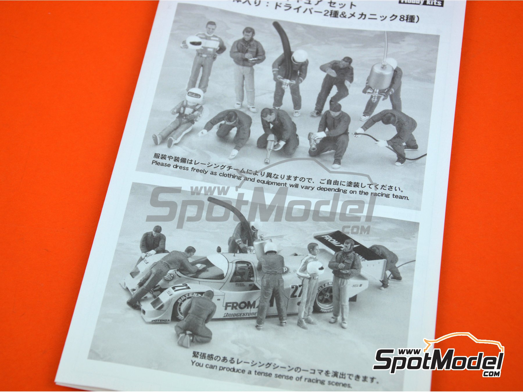 Image 4: Racing figure set | Figures set in 1/24 scale manufactured by Hasegawa (ref. 20295)