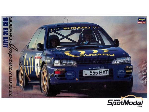 Image 1: Subaru Impreza WRX Subaru Team - Great Britain RAC Rally 1993 | Model car kit in 1/24 scale manufactured by Hasegawa (ref. 20297)