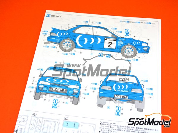 Image 24: Subaru Impreza WRX Subaru Team - Great Britain RAC Rally 1993 | Model car kit in 1/24 scale manufactured by Hasegawa (ref. 20297)