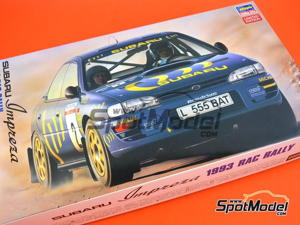 Image 25: Subaru Impreza WRX Subaru Team - Great Britain RAC Rally 1993 | Model car kit in 1/24 scale manufactured by Hasegawa (ref. 20297)
