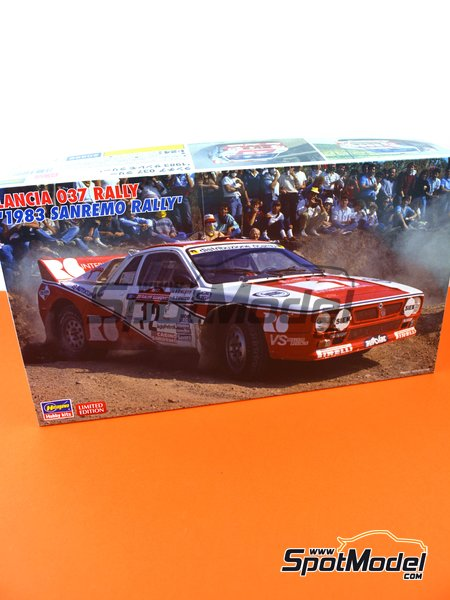 Lancia 037 Rally R6 International - Sanremo Rally 1983 | Model car kit in 1/24 scale manufactured by Hasegawa (ref.20299) image