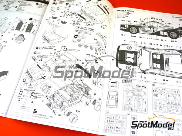 Image 10: Lancia 037 Rally R6 International - Sanremo Rally 1983 | Model car kit in 1/24 scale manufactured by Hasegawa (ref. 20299)