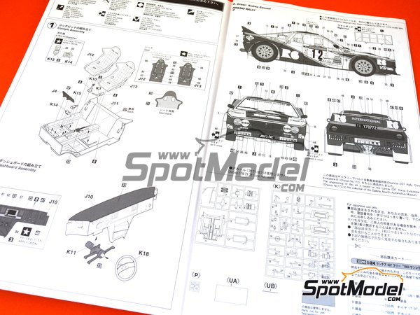 Image 11: Lancia 037 Rally R6 International - Sanremo Rally 1983 | Model car kit in 1/24 scale manufactured by Hasegawa (ref. 20299)