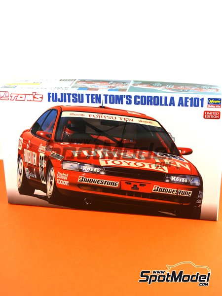 Toyota Corolla AE101 | Model car kit in 1/24 scale manufactured by Hasegawa (ref.20302) image