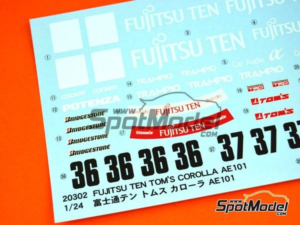 Image 3: Toyota Corolla AE101 Fujitsu Ten Tom's | Maqueta de coche en escala1/24 fabricado por Hasegawa (ref.20302)
