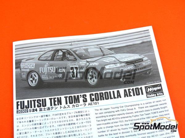 Image 10: Toyota Corolla AE101 Fujitsu Ten Tom's | Maqueta de coche en escala1/24 fabricado por Hasegawa (ref.20302)
