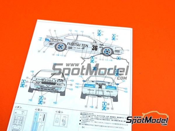 Image 12: Toyota Corolla AE101 Fujitsu Ten Tom's | Maqueta de coche en escala1/24 fabricado por Hasegawa (ref.20302)
