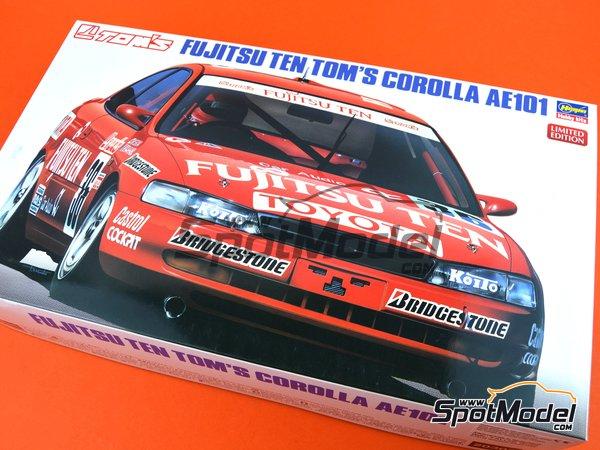 Image 13: Toyota Corolla AE101 Fujitsu Ten Tom's | Maqueta de coche en escala1/24 fabricado por Hasegawa (ref.20302)