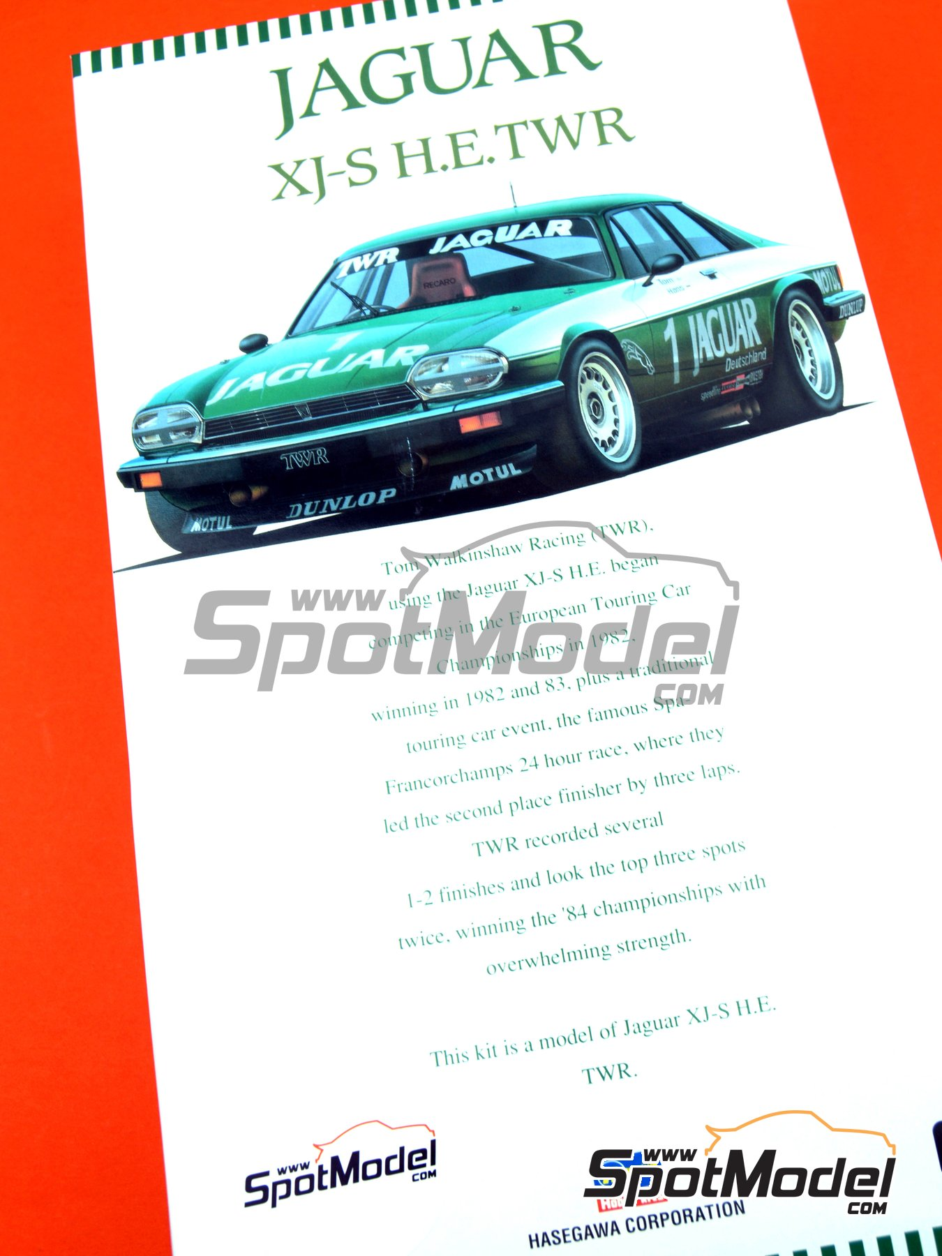 Jaguar XJ-S | Model car kit in 1/24 scale manufactured by Hasegawa (ref.20305) image