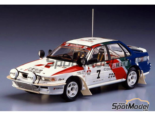 Image 1: Mitsubishi Galant VR-4 - Safari Rally 1992 | Model car kit in 1/24 scale manufactured by Hasegawa (ref. 20307)