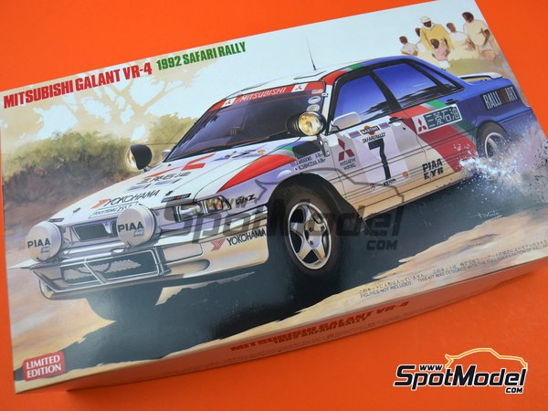 Image 14: Mitsubishi Galant VR-4 Ralli Art - Safari Rally 1992 | Model car kit in 1/24 scale manufactured by Hasegawa (ref. 20307)