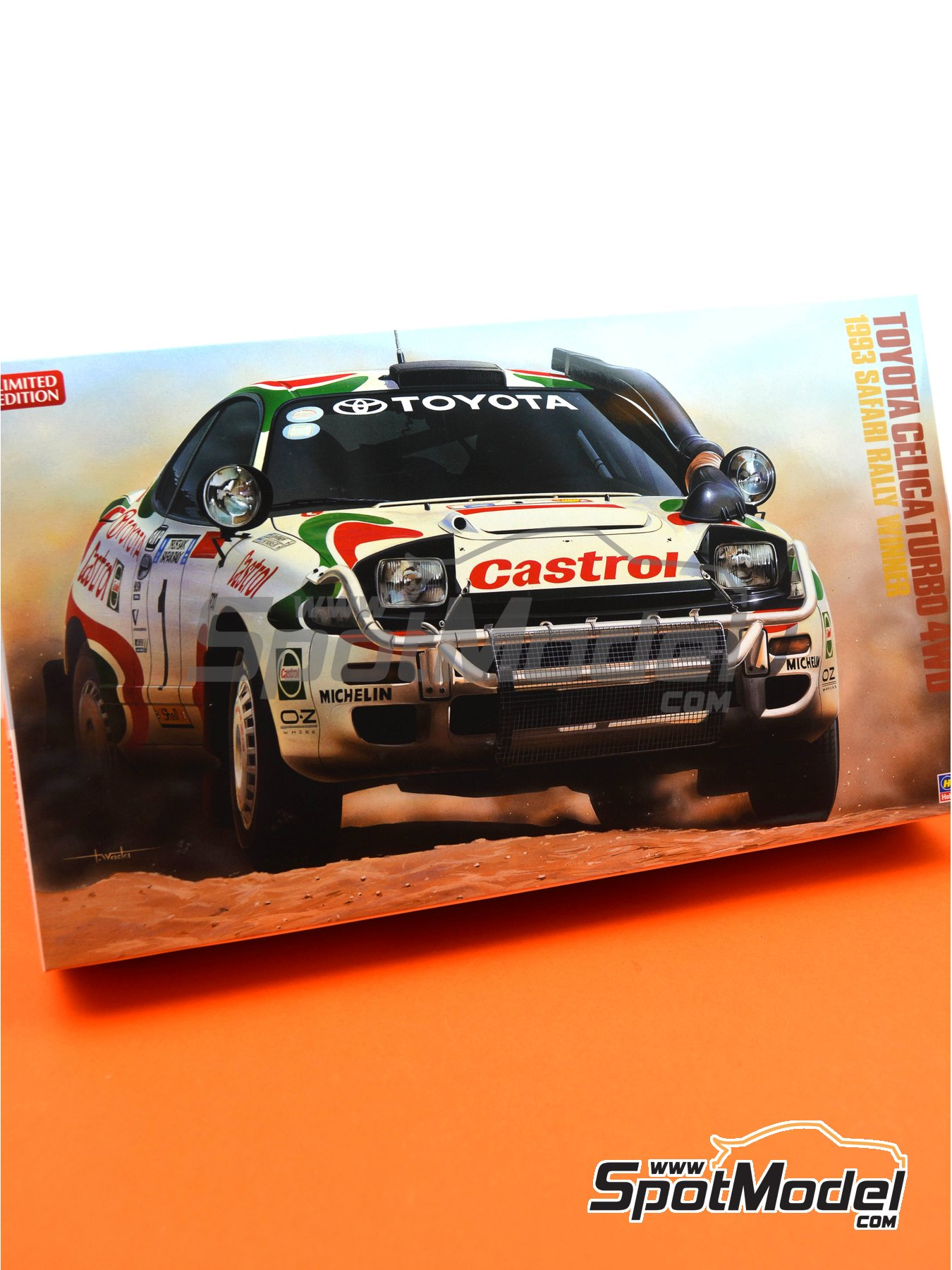 Toyota Celica Turbo 4WD - Safari Rally 1993 | Model car kit in 1/24 scale manufactured by Hasegawa (ref. 20309) image