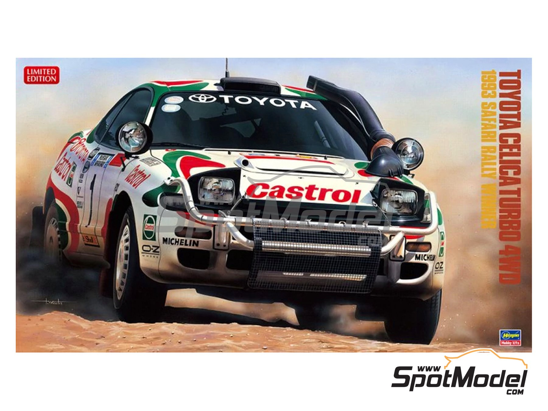 Image 1: Toyota Celica Turbo 4WD - Safari Rally 1993 | Model car kit in 1/24 scale manufactured by Hasegawa (ref. 20309)