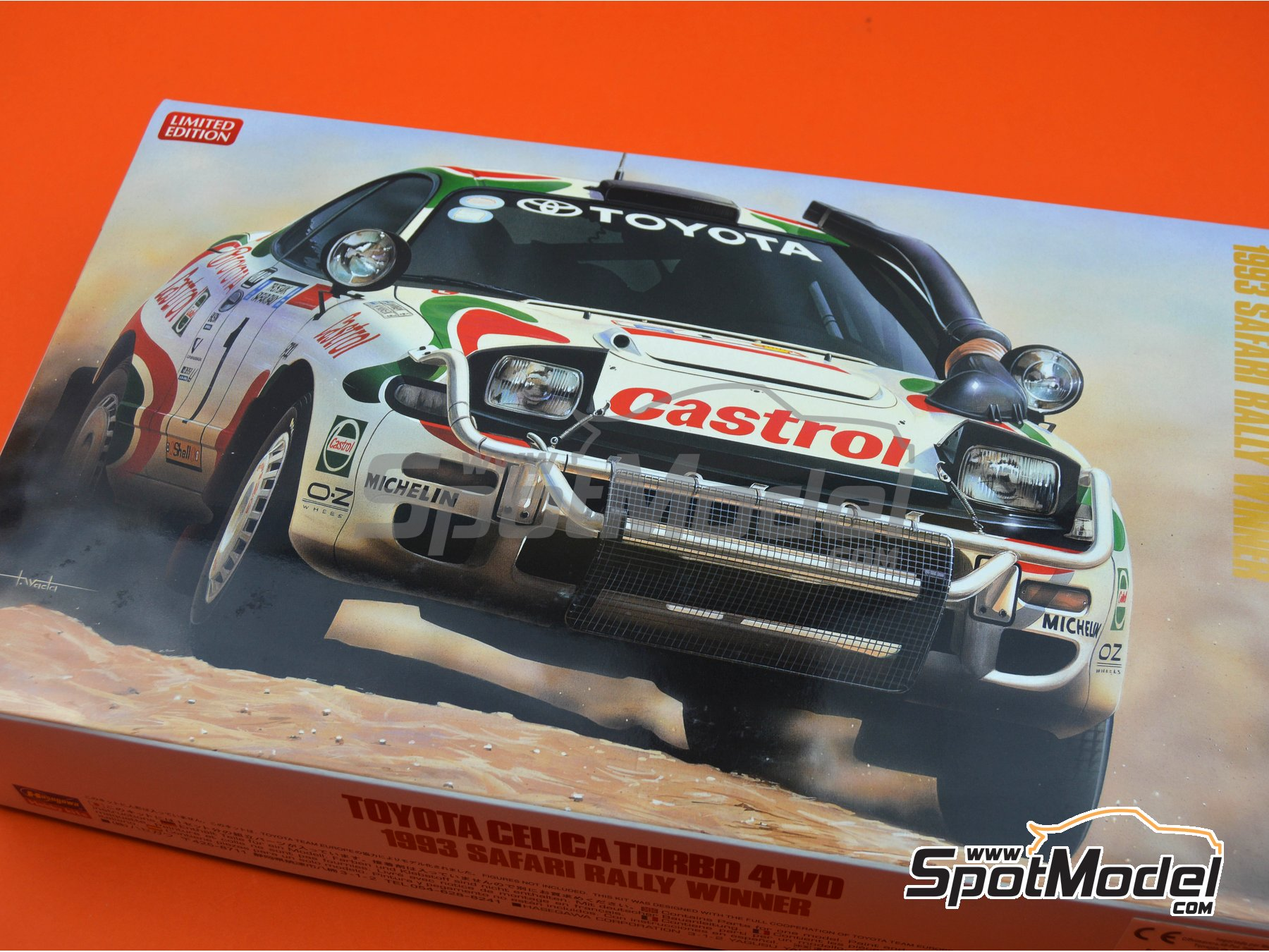 Image 10: Toyota Celica Turbo 4WD Toyota Castrol Team - Safari Rally 1993 | Model car kit in 1/24 scale manufactured by Hasegawa (ref. 20309)