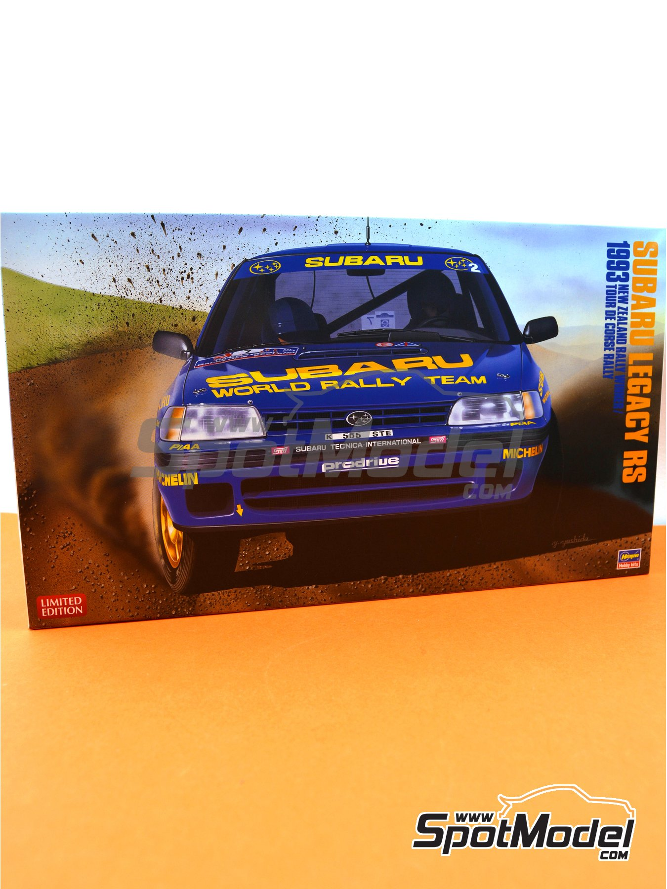 Subaru Legacy RS Subaru Rally Team - New Zealand rally, Tour de Corse 1993 | Model car kit in 1/24 scale manufactured by Hasegawa (ref. 20311) image