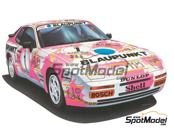 Image 1: Porsche 944 Turbo Blaupunkt - Porsche Turbo Cup Series | Model car kit in 1/24 scale manufactured by Hasegawa (ref. 20315)