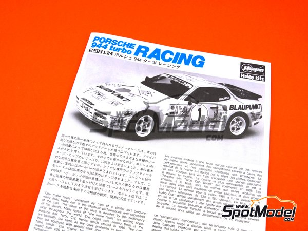 Image 10: Porsche 944 Turbo Blaupunkt - Porsche Turbo Cup Series | Model car kit in 1/24 scale manufactured by Hasegawa (ref. 20315)