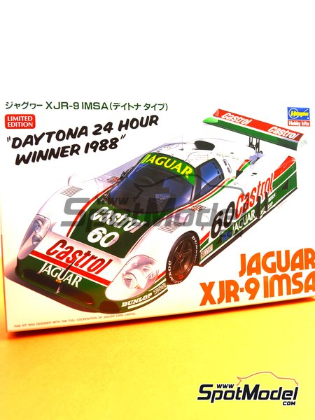Jaguar XJR-9 - 24 Hours Daytona 1988 | Model car kit in 1/24 scale manufactured by Hasegawa (ref. 20316) image