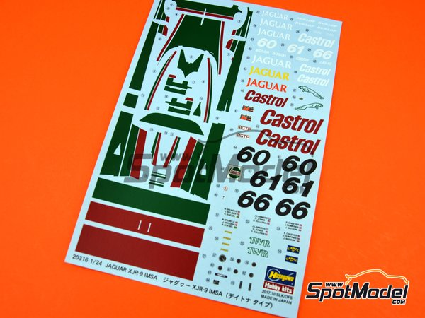 Image 2: Jaguar XJR-9 Castrol - 24 Hours Daytona 1988 | Model car kit in 1/24 scale manufactured by Hasegawa (ref. 20316)