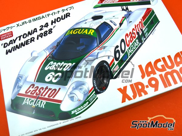 Image 10: Jaguar XJR-9 Castrol - 24 Hours Daytona 1988 | Model car kit in 1/24 scale manufactured by Hasegawa (ref. 20316)