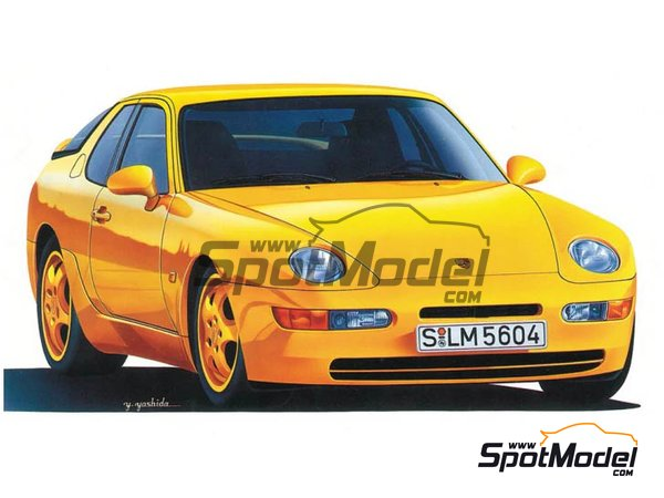 Image 1: Porsche 968 Club Sport | Model car kit in 1/24 scale manufactured by Hasegawa (ref.20317)
