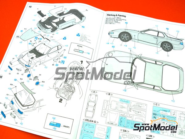 Image 10: Porsche 968 Club Sport | Model car kit in 1/24 scale manufactured by Hasegawa (ref.20317)