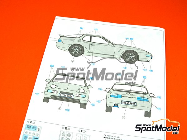 Image 11: Porsche 968 Club Sport | Model car kit in 1/24 scale manufactured by Hasegawa (ref.20317)