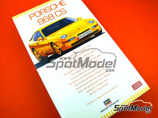 Image 13: Porsche 968 Club Sport | Model car kit in 1/24 scale manufactured by Hasegawa (ref. 20317)